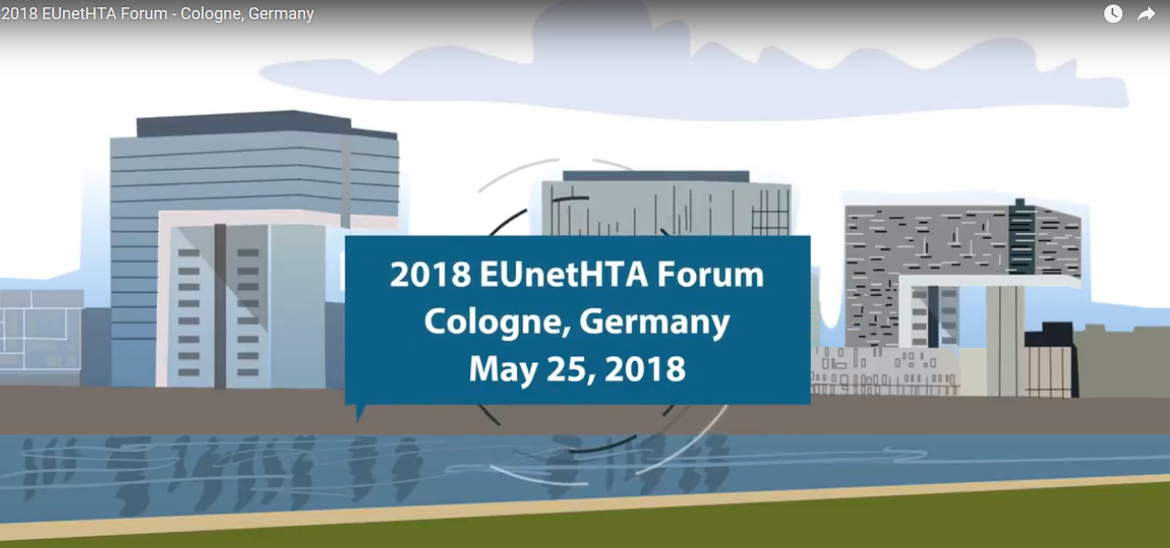 A Visual Summary of the May 2018 EUnetHTA Forum from Cologne, Germany